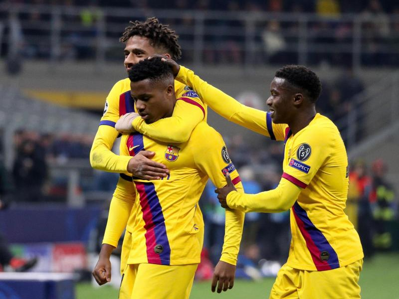 The three youngsters who have been told to leave Barcelona