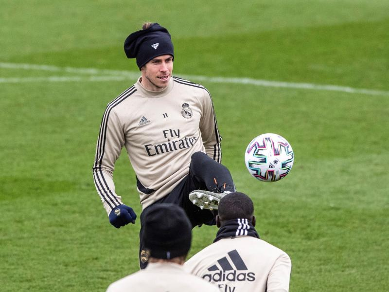 Gareth Bale trains with Real Madrid squad ahead of Manchester City clash