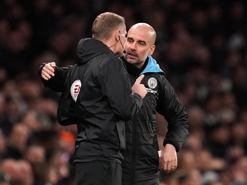 Manchester City players questioned Pep Guardiola about his tactics after Spurs defeat