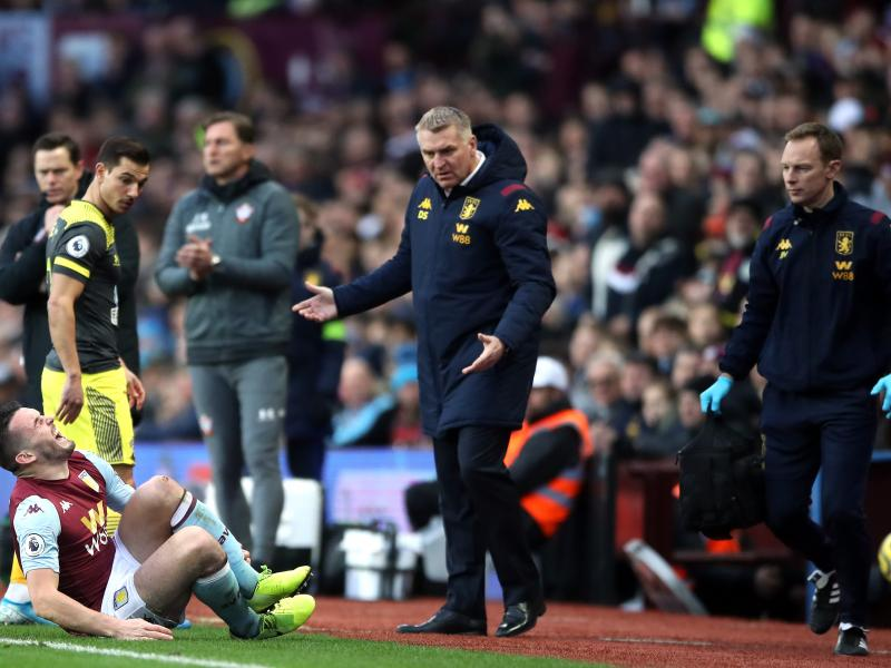 John McGinn will be out of action for Aston Villa for several weeks more