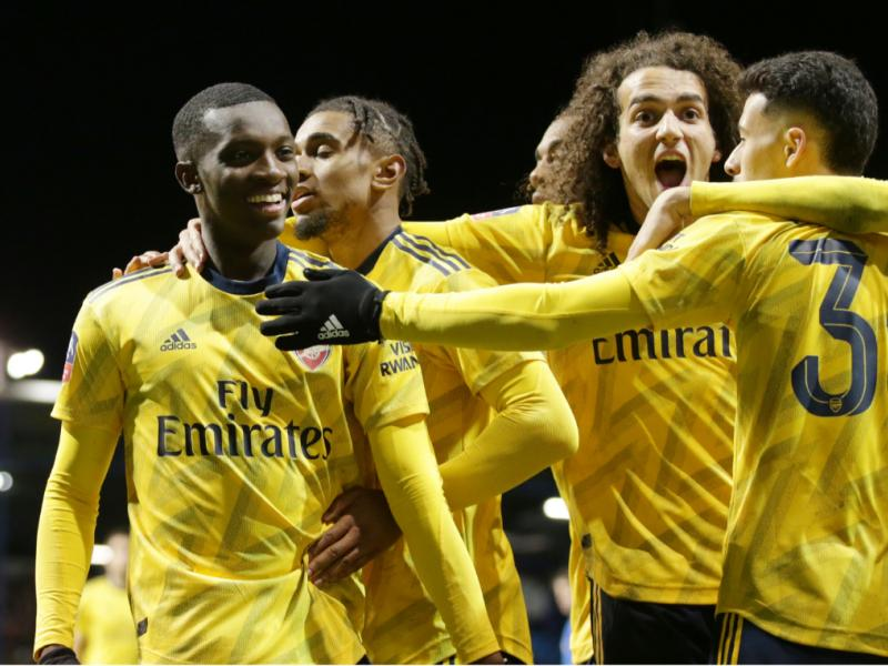 Portsmouth 0-2 Arsenal: Sokratis and Nketiah score as the Gunners reach the FA Cup quarterfinals