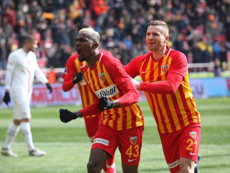 Bernard Mensah provides two assists in Kayserispor's 2-1 victory