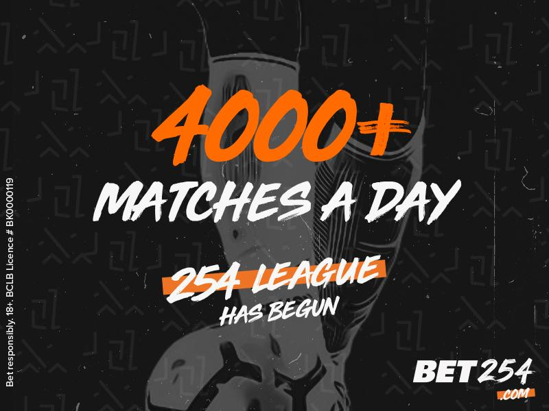 🇰🇪 bet254 add 4,000+ more matches a day to use their 3x odds multiplier on