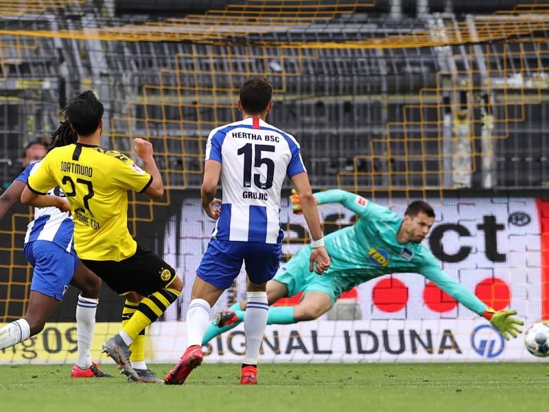 Bundesliga: Emre Can's strike secures slim victory for Borussia Dortmund over Hertha BSC