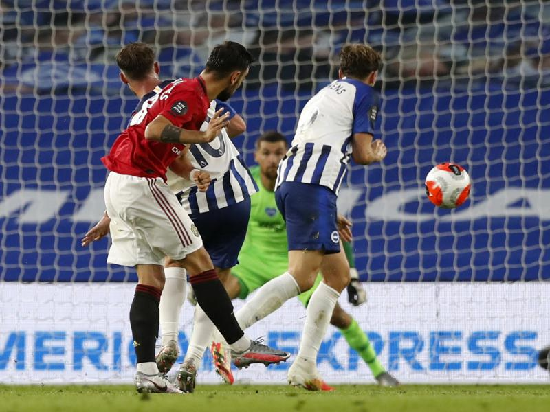 Brighton 0-3 Man United: Bruno Fernandes scores two as the Red Devils shut out the Seagulls