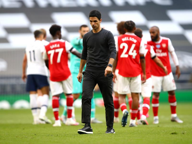 Arteta sends apology to Arsenal fans following Tottenham loss