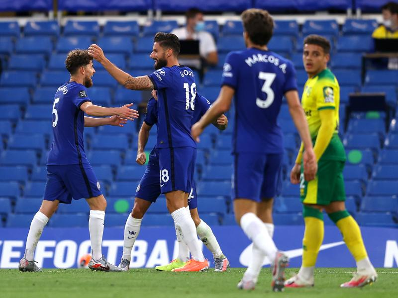 Chelsea 1-0 Norwich City: Olivier Giroud heads the Blues four points clear in third