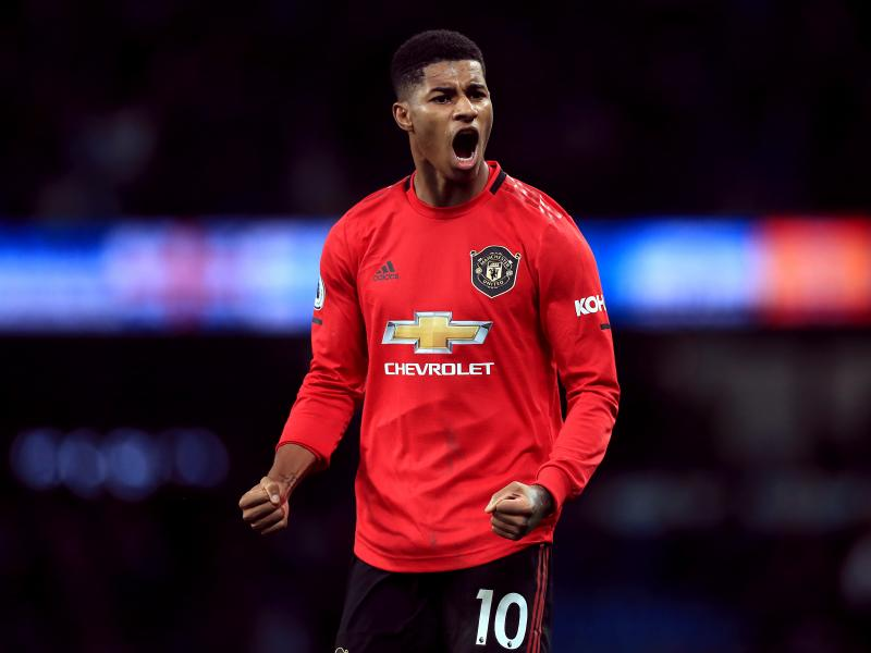 Rashford reacts after Man United comeback to win against West Ham