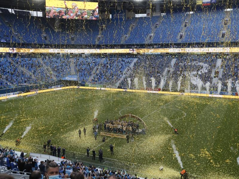 Zenit St Petersburg Players Accidentally Smash Their Latest Trophy Futaa Com