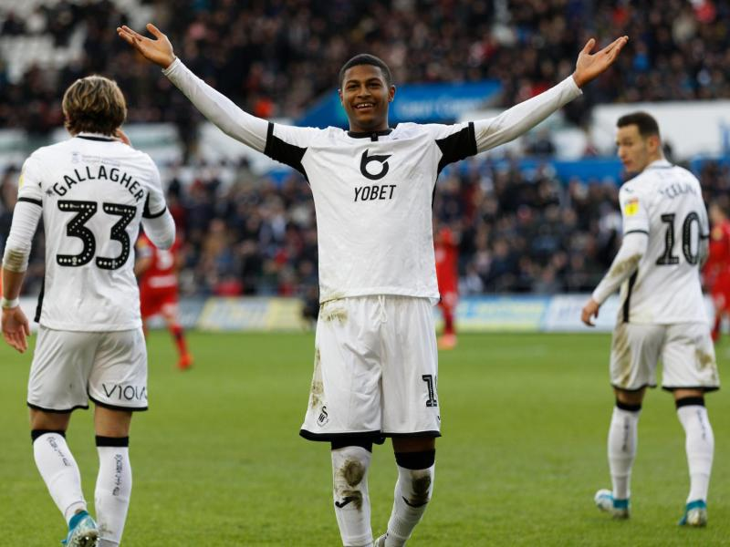 Liverpool striker Rhian Brewster reminisces on his successful loan spell at Swansea City