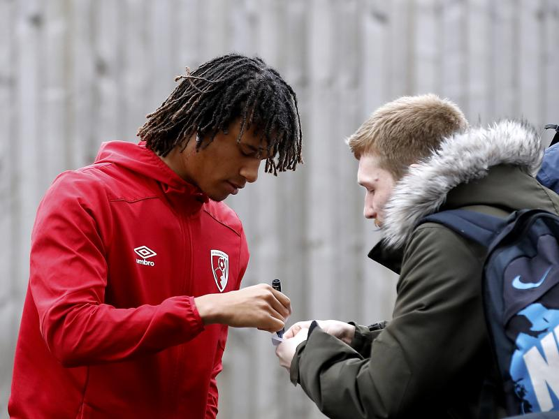 Nathan Ake arrives in Manchester for his Man City medical