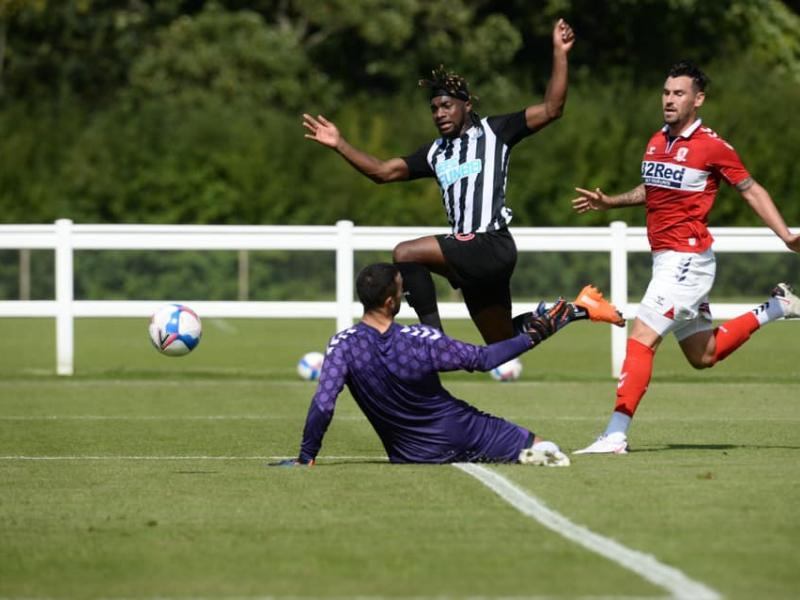 Newcastle ships five goals against Championship side Middlesbrough in friendly
