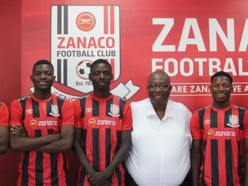 Zanaco complete three new signings, promote two youngsters