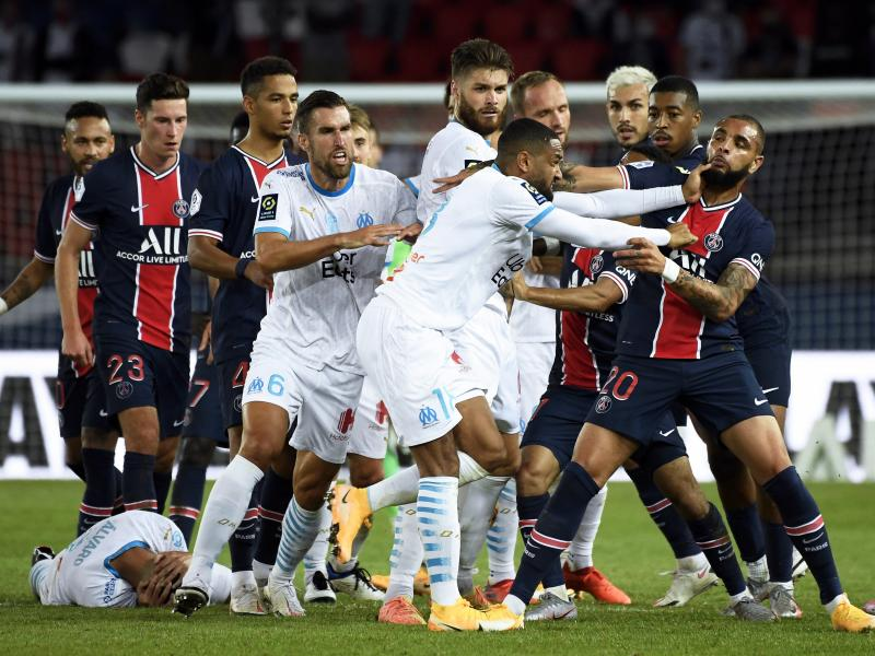Ligue 1 confirm heavy punishments for all players involved in PSG-Marseille brawl