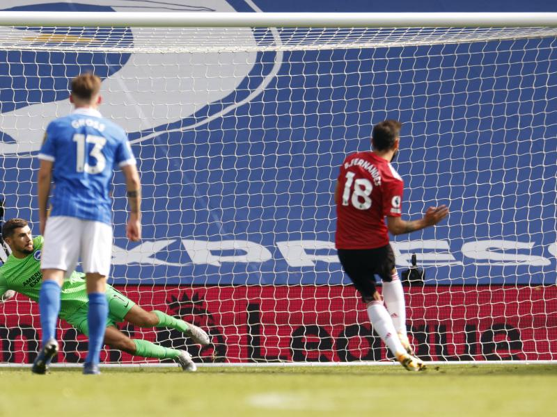 Bruno Fernandes on Manchester United's stroke of luck following Brighton win