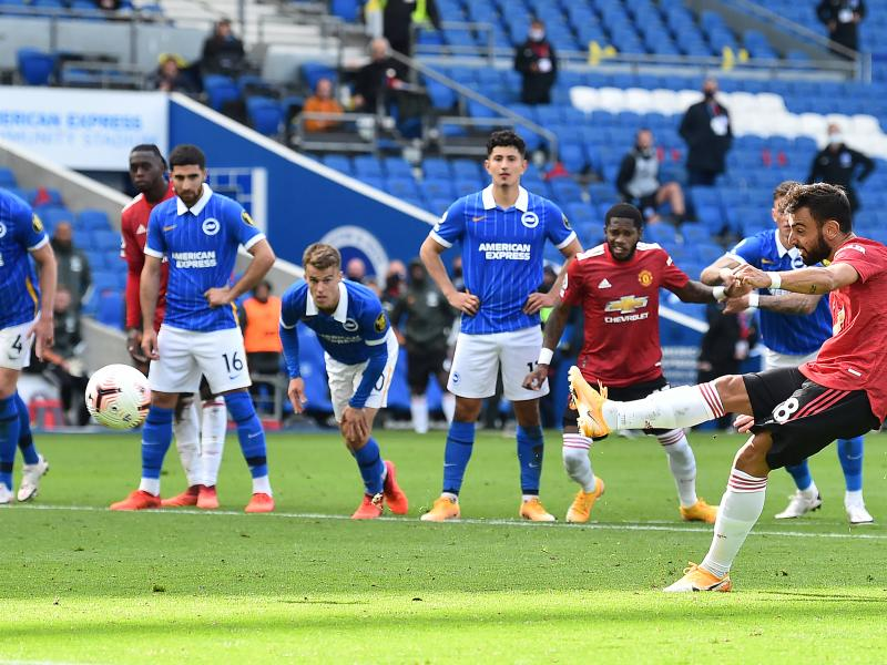 Brighton & Hove Albion 2-3 Manchester United: Bruno Fernande's penalty wins it for the visitors in dramatic fashion