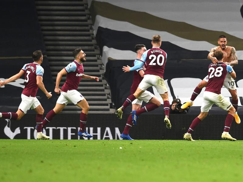 Tottenham 3-3 West Ham: Late drama as Lanzini's last-minute wonder-goal snatches point for Hammers