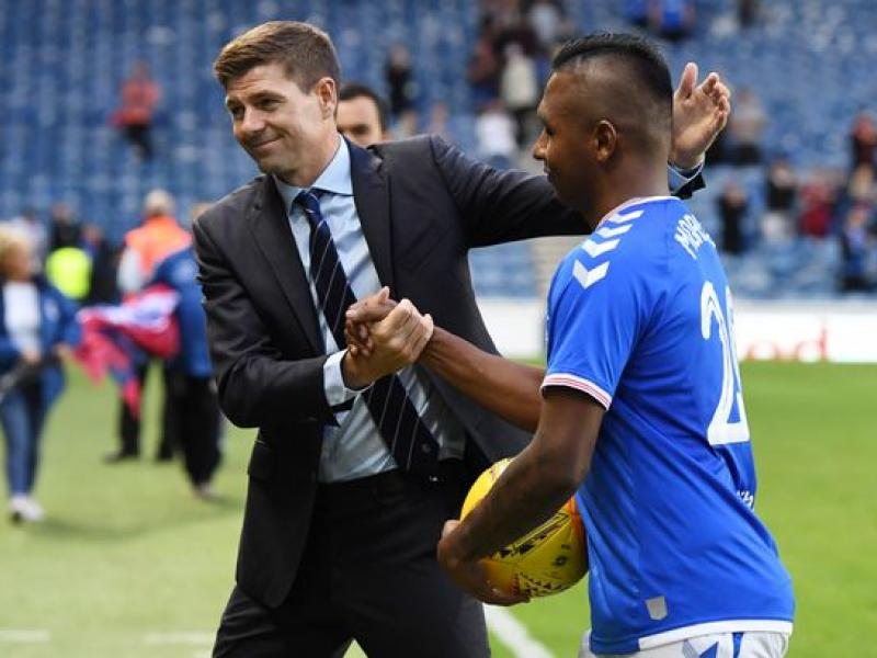 Rangers boss Steven Gerrard believes the competition in the squad has helped Alfredo Morelos