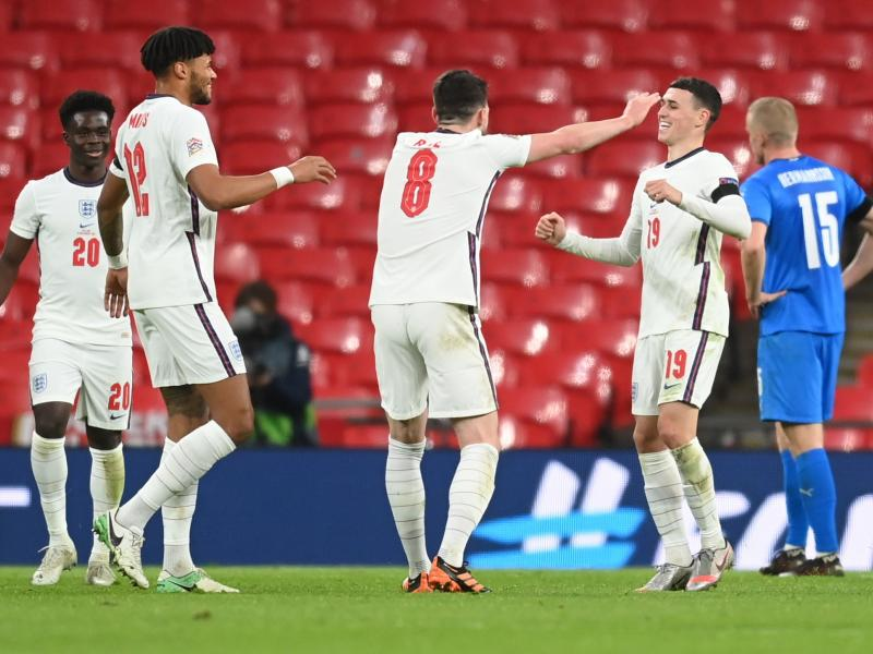 🦁 Man City's Foden enters England's record books with two goals against Iceland