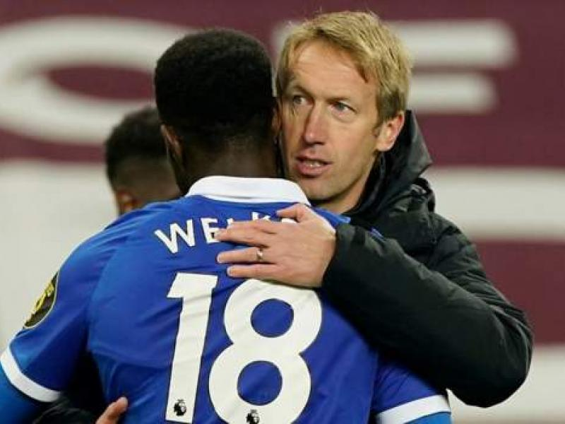 Brighton boss Graham Potter impressed with Danny Welbeck after debut goal