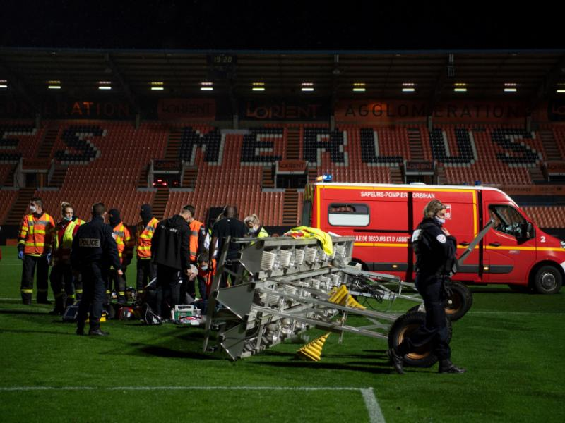Lorient groundsman dies after a floodlight bar falls on him in freak accident