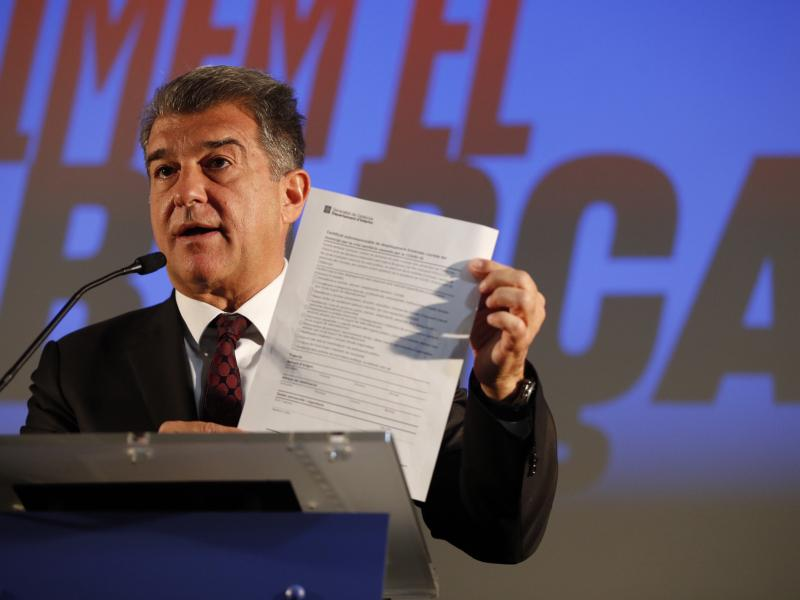 Barcelona Presidential candidate Laporta says Messi will leave the club if he doesn't win elections