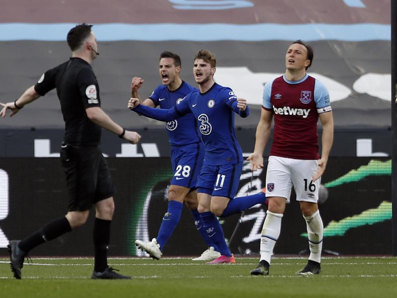 West Ham 0-1 Chelsea: Timo Werner boosts Blues' top-four finish