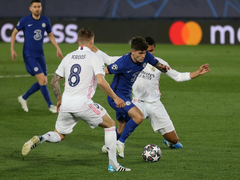 Real Madrid 1-1 Chelsea: Pulisic scores important away goal to give the Blues advantage