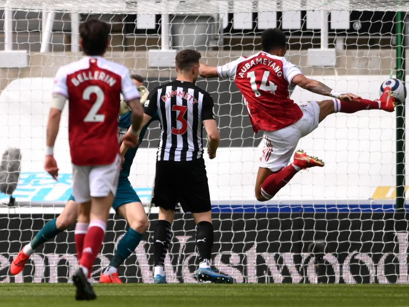 Newcastle United 0-2 Arsenal: Auba and Elneny on target as Gunners get a much-needed win