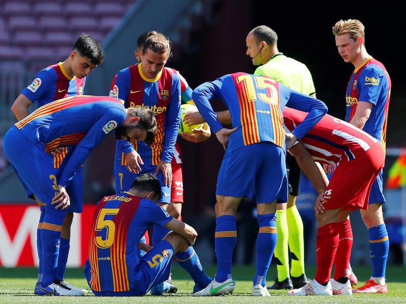 Sergio Busquets suffers broken jaw in Atletico Madrid stalemate