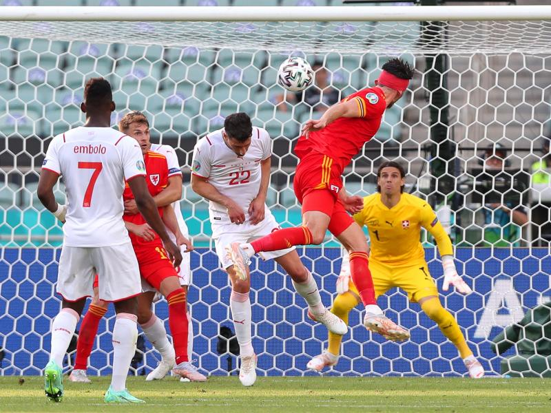 Wales 1-1 Switzerland: Kieffer Moore cancels out Breel Embolo header to earn the Welsh a Euros draw