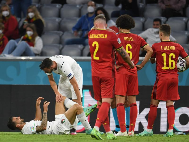 Injury blow for Italy as Leonardo Spinazzola suffers tournament-ending injury