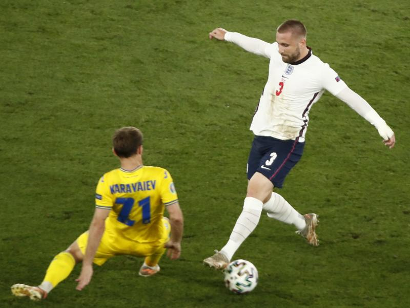 Luke Shaw played with broken ribs in three matches for England at the Euros