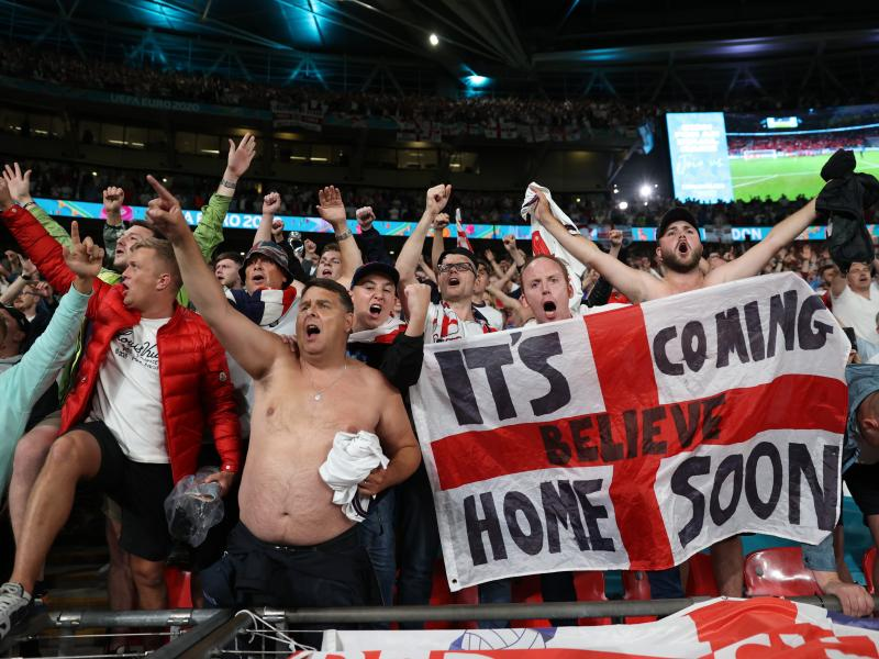 EURO 2020: England charged by UEFA following 'laser' incident against Denmark