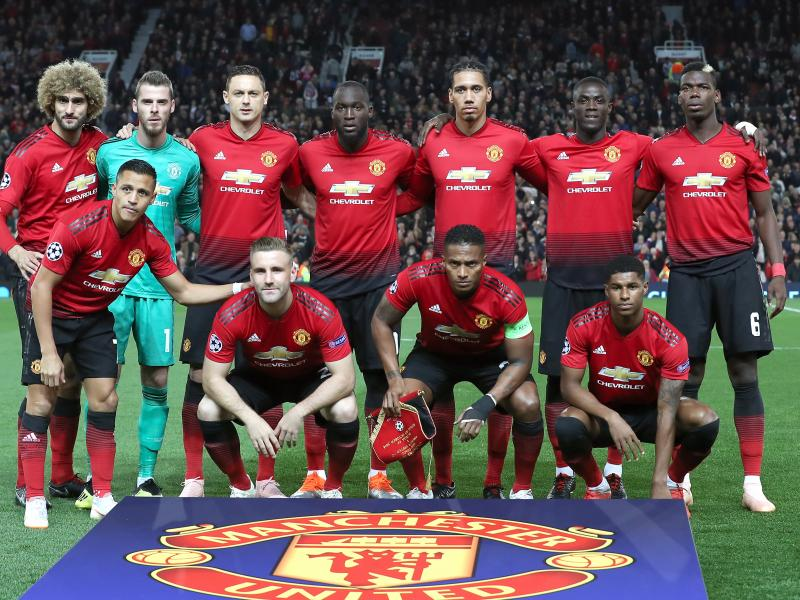 Manchester United's initial squad for PSG test