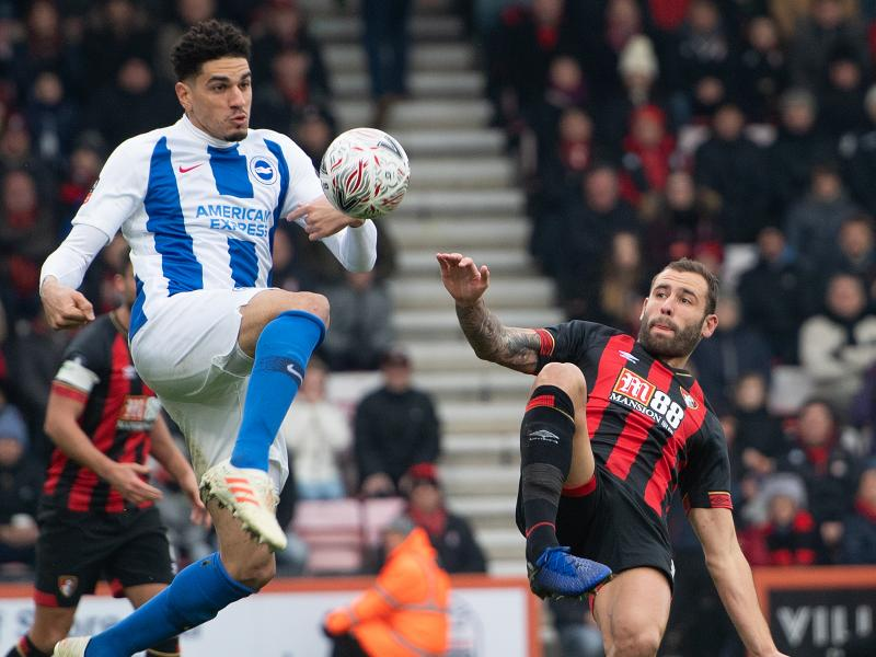 Leon Balogun returns to action in Brighton's EFL Cup win over Bristol