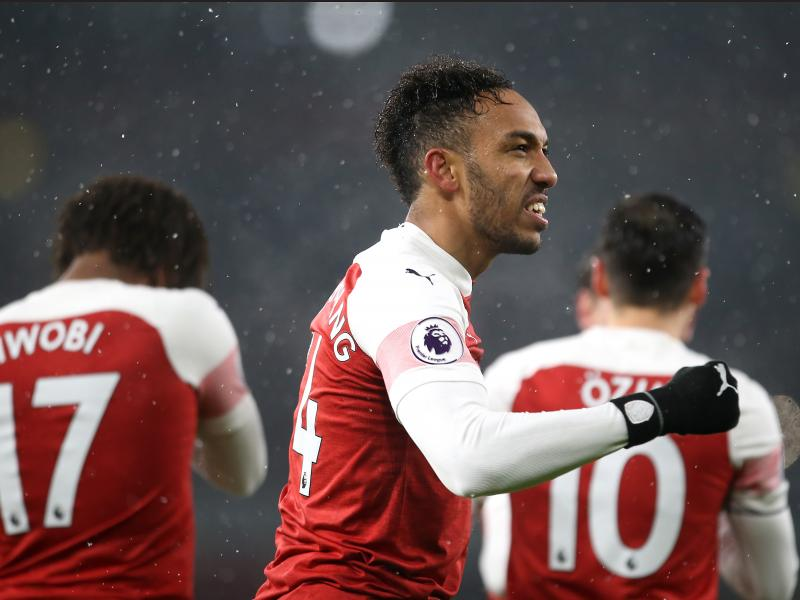 Lacca, Auba start for Arsenal against Rennes