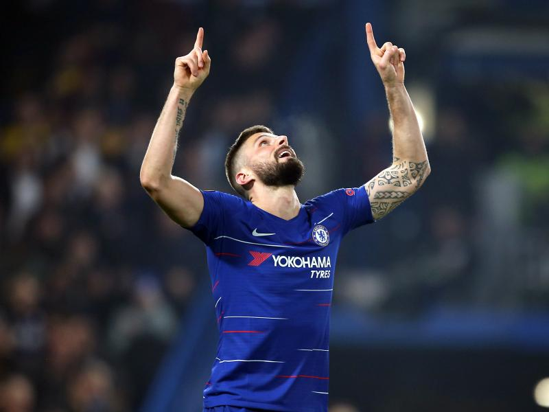 Giroud ecstatic after bagging his first Chelsea hat-trick