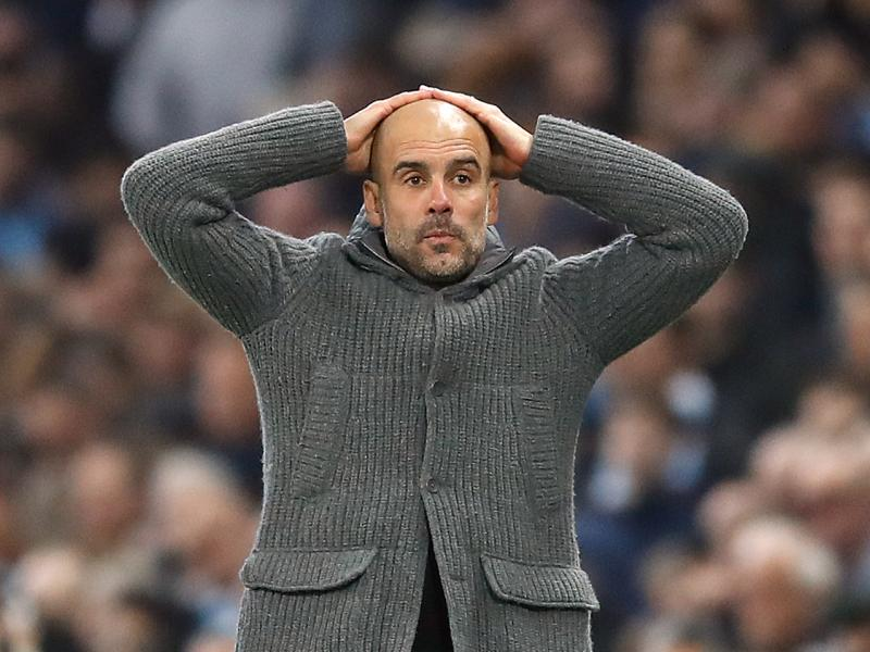 Pep Guardiola reacts to possible Manchester City Champions League ban