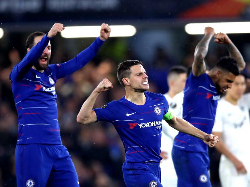 Chelsea 1-1 Eintracht Frankfurt (2-2 Agg) Chelsea win on penalties to book Europa League final date with Arsenal