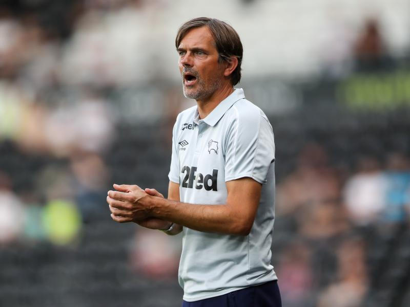 Phillip Cocu on the helm of Derby County in his first stint in English football