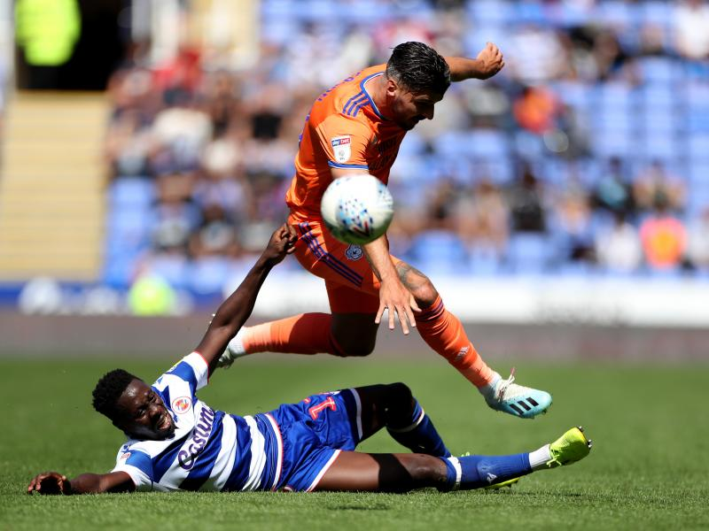 Andy Yiadom was assist king in Reading's 3-0 victory over Cardiff City