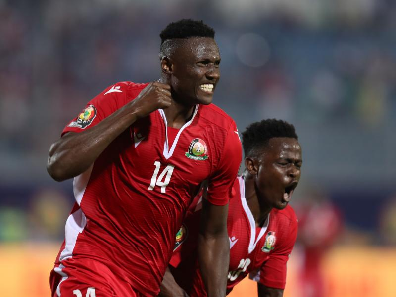 Harambee Stars striker Olunga calls out for fans' support