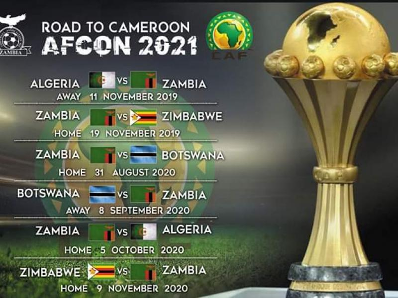 AFCON 2021 Qualifiers: Zambia to start the road to Cameroon away to Algeria