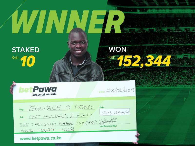 Surprise! Bonface Ooko found out he'd won BIG from a phone call
