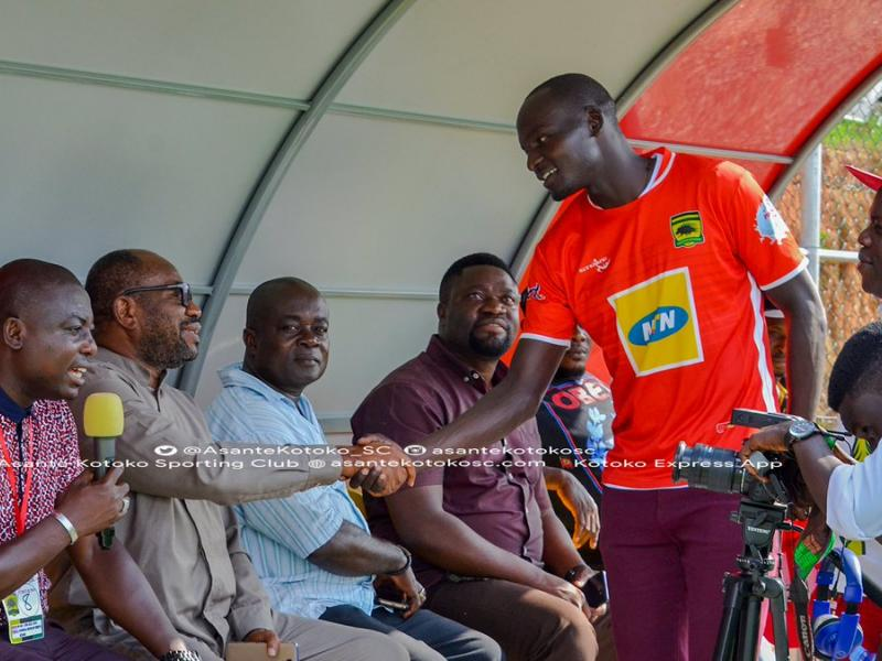 Sharks Abege officially unveiled at Kotoko