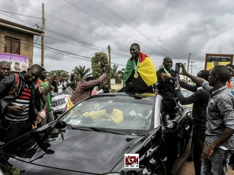 Cameroon fans welcome AFCON 2019 final referees in grand style