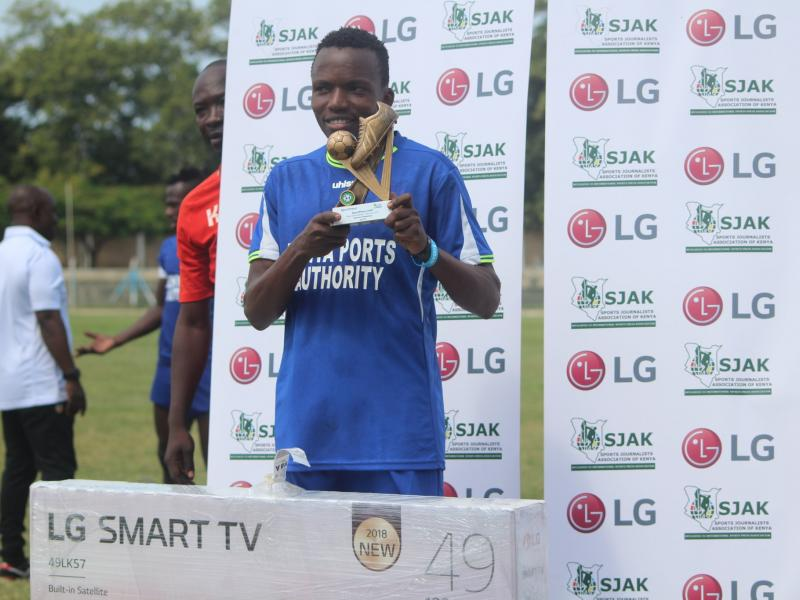 Danson Chetambe wins SJAK May/June footballer of the month award