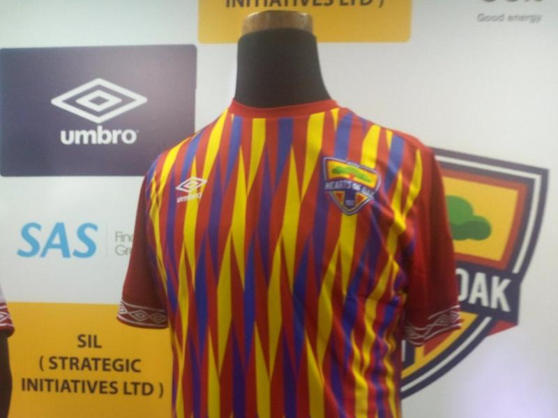Hearts of Oak's new Umbro kit