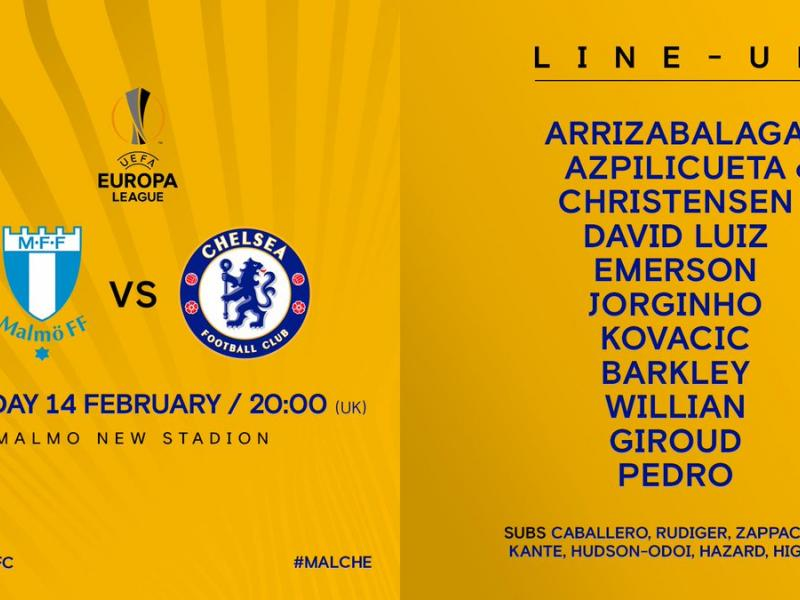 TEAM NEWS: Five changes for Chelsea in Malmo test